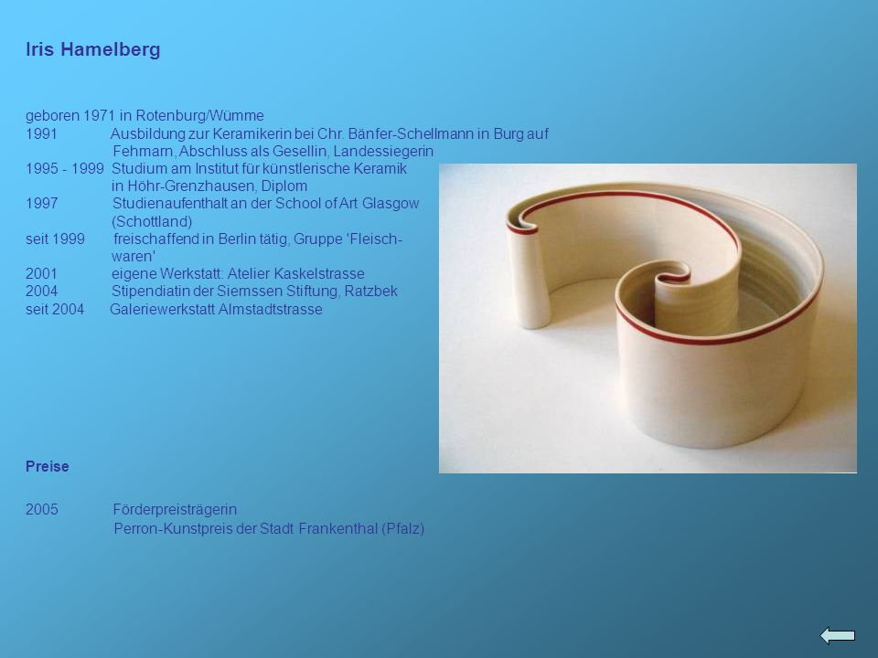 Iris Hamelberg geboren 1971 in Rotenburg/Wümme