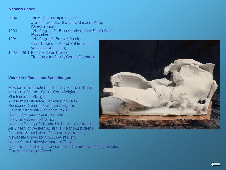 Kommissionen Nike , Steinskulptur für das. Olympic Ceramic Sculpture Museum, Athen (Griechenland)