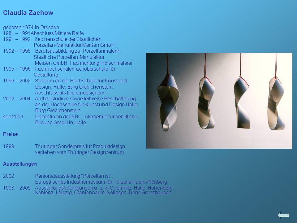 Claudia Zachow geboren 1974 in Dresden