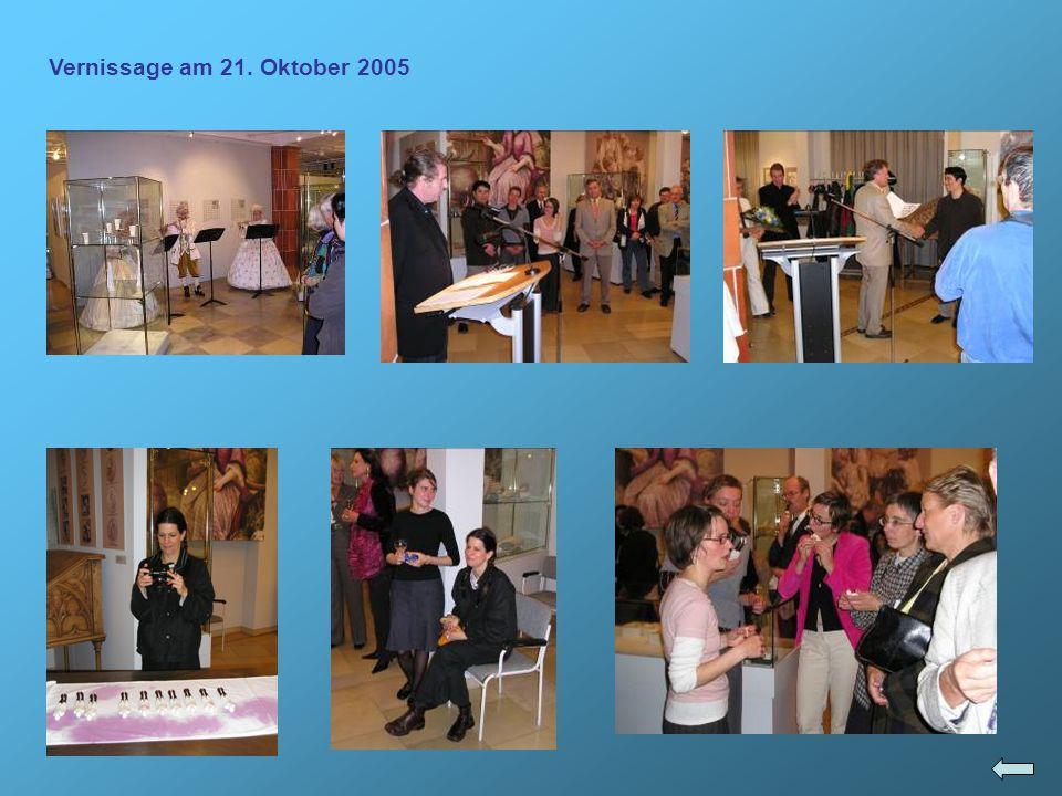 Vernissage am 21. Oktober 2005