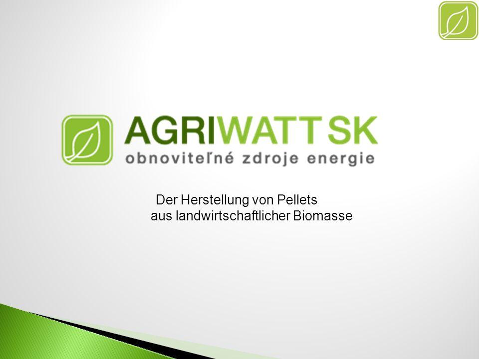Der Herstellung von Pellets aus landwirtschaftlicher Biomasse