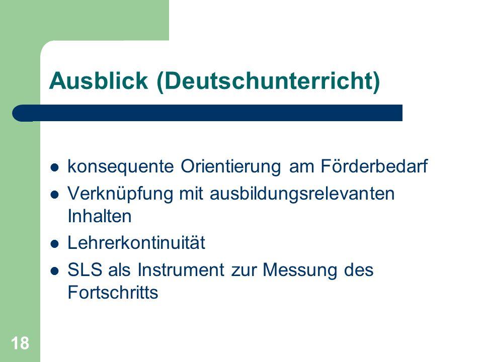 Ausblick (Deutschunterricht)