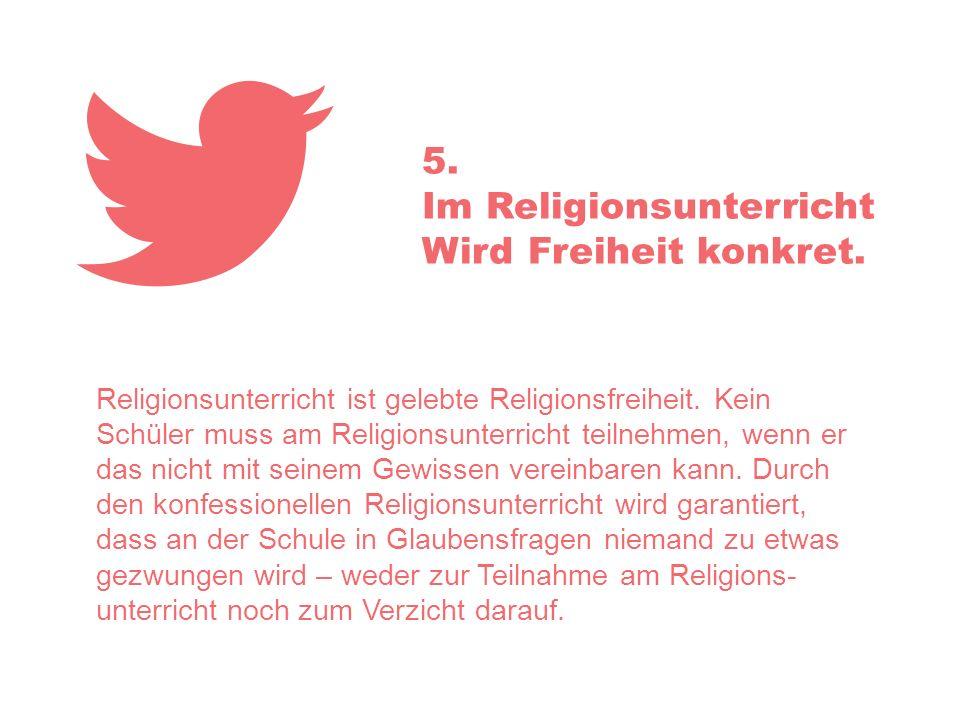 Im Religionsunterricht Wird Freiheit konkret.
