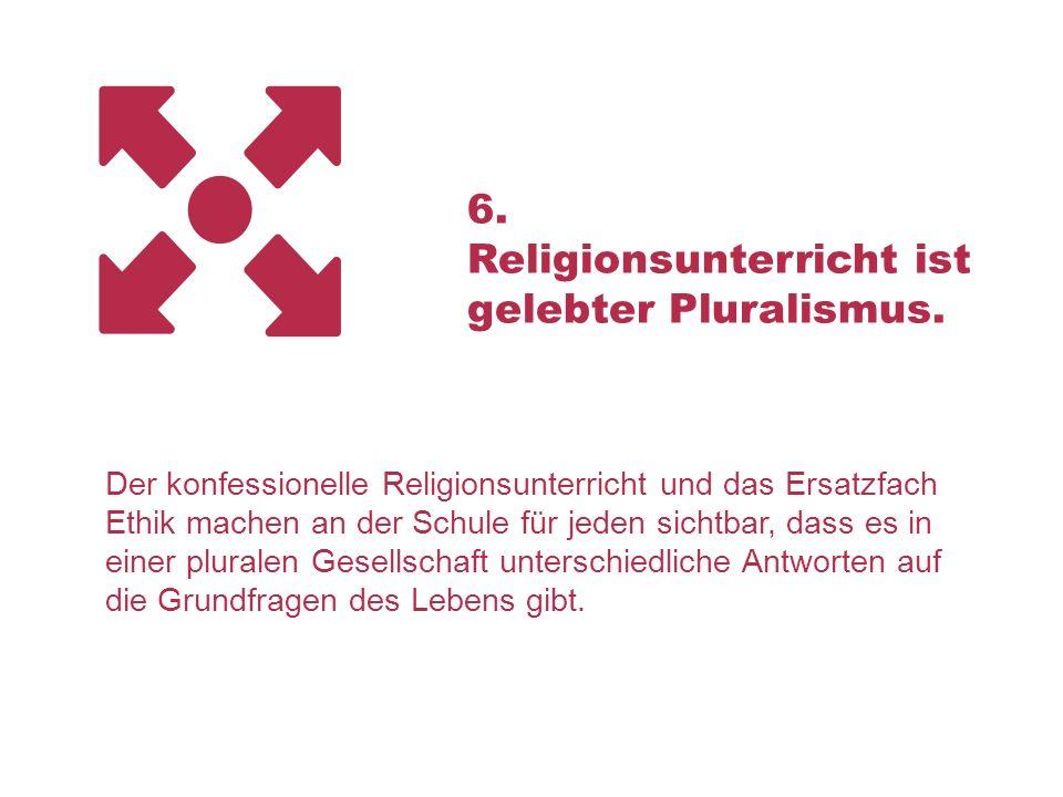Religionsunterricht ist gelebter Pluralismus.