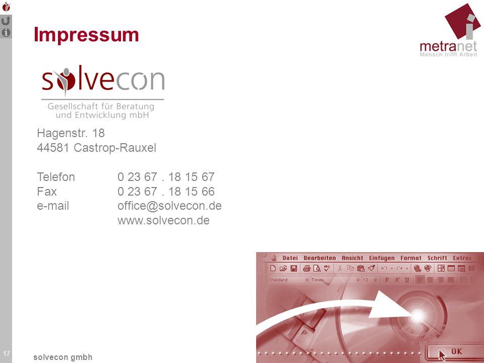 Impressum Hagenstr. 18 44581 Castrop-Rauxel Telefon 0 23 67 . 18 15 67