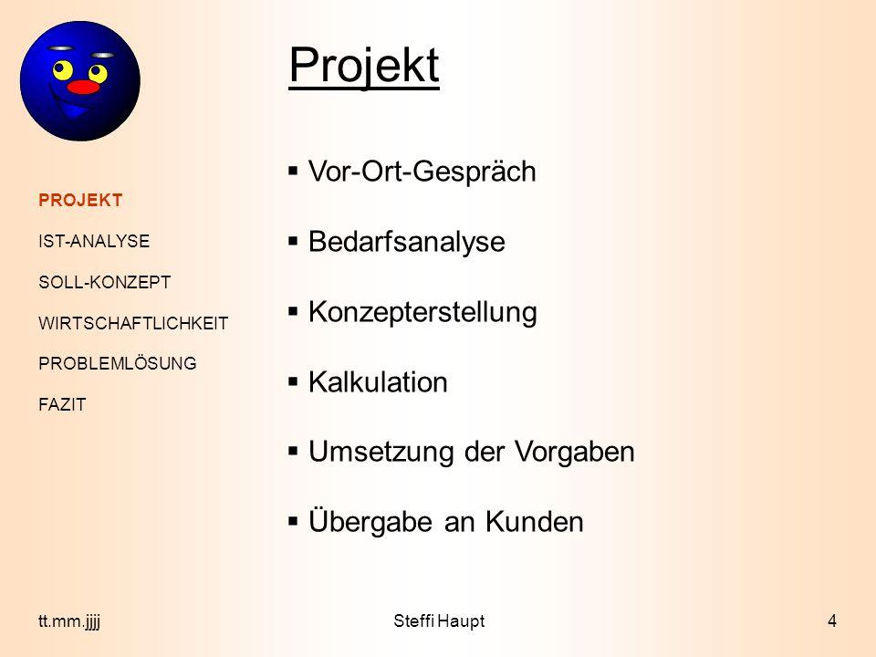 Projekt Vor-Ort-Gespräch Bedarfsanalyse Konzepterstellung Kalkulation