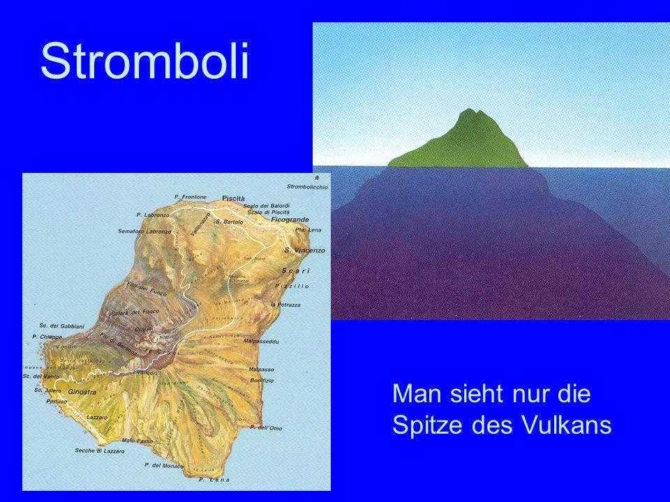 Stromboli Stromboli Man sieht nur die Spitze des Vulkans