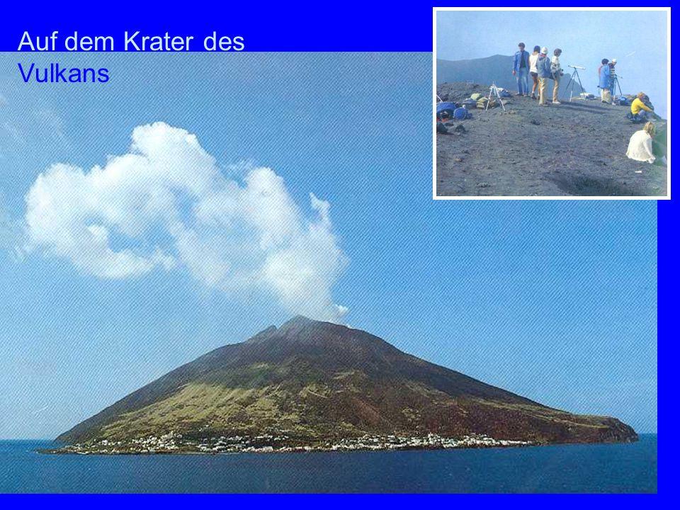Auf dem Krater des Vulkans