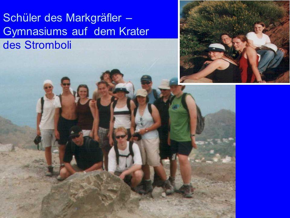 Markgräfler Schüler des Markgräfler – Gymnasiums auf dem Krater