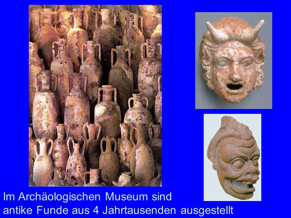 Im Archäologischen Museum sind