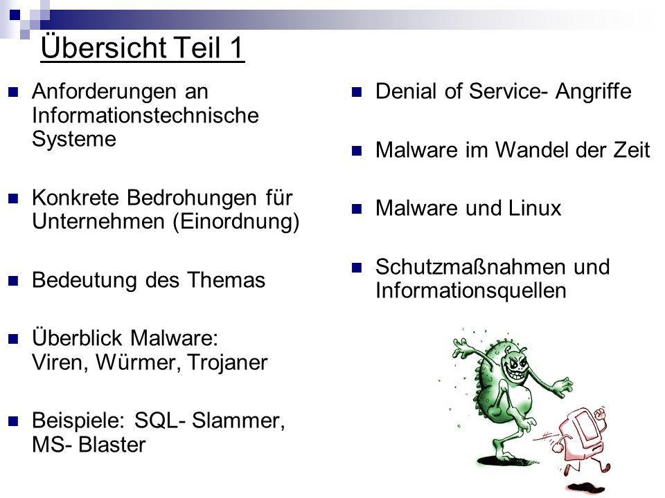 Übersicht Teil 1 Anforderungen an Informationstechnische Systeme