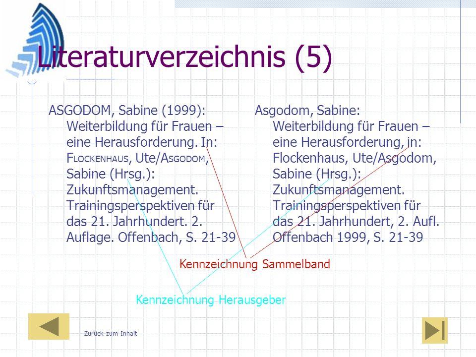 Literaturverzeichnis (5)