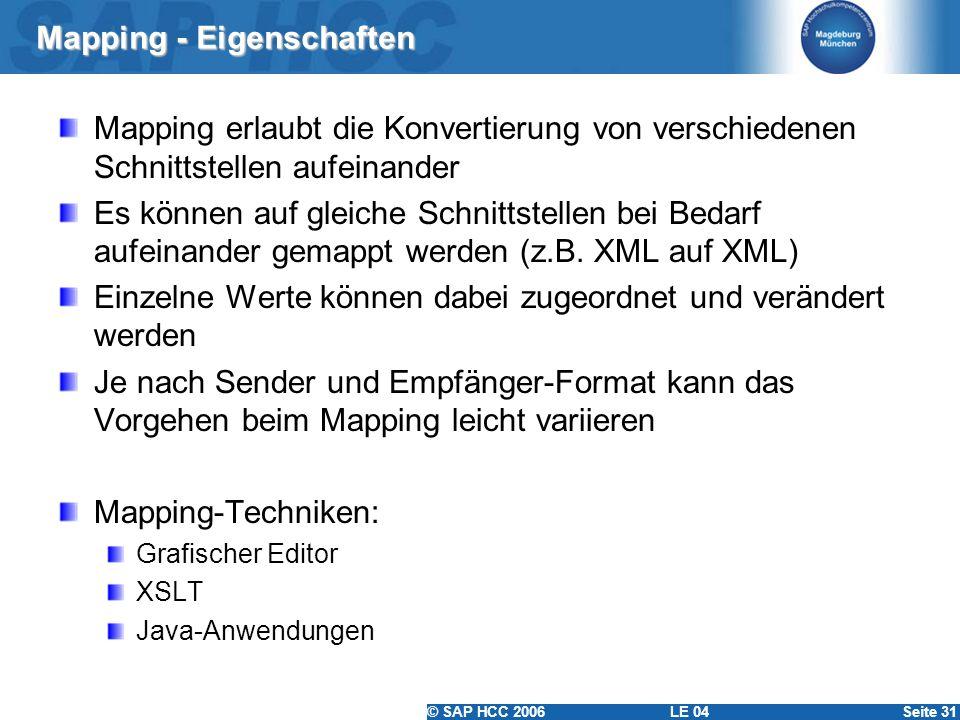 Mapping - Eigenschaften