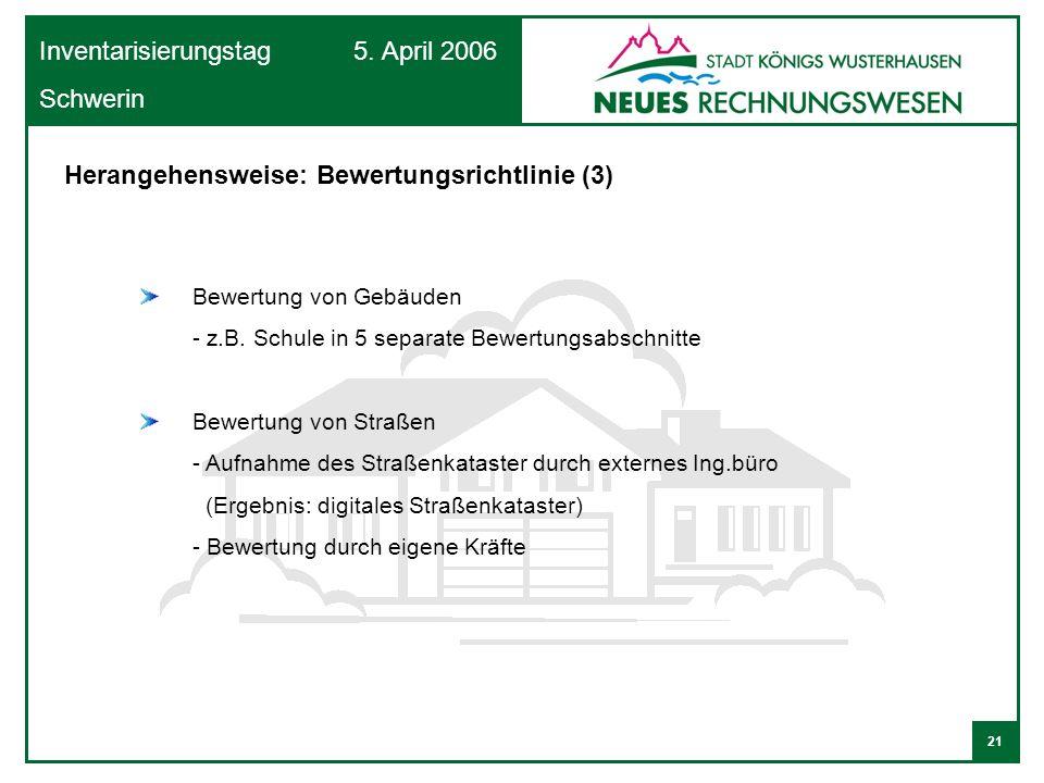 Herangehensweise: Bewertungsrichtlinie (3)