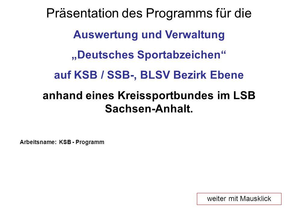 Präsentation des Programms für die