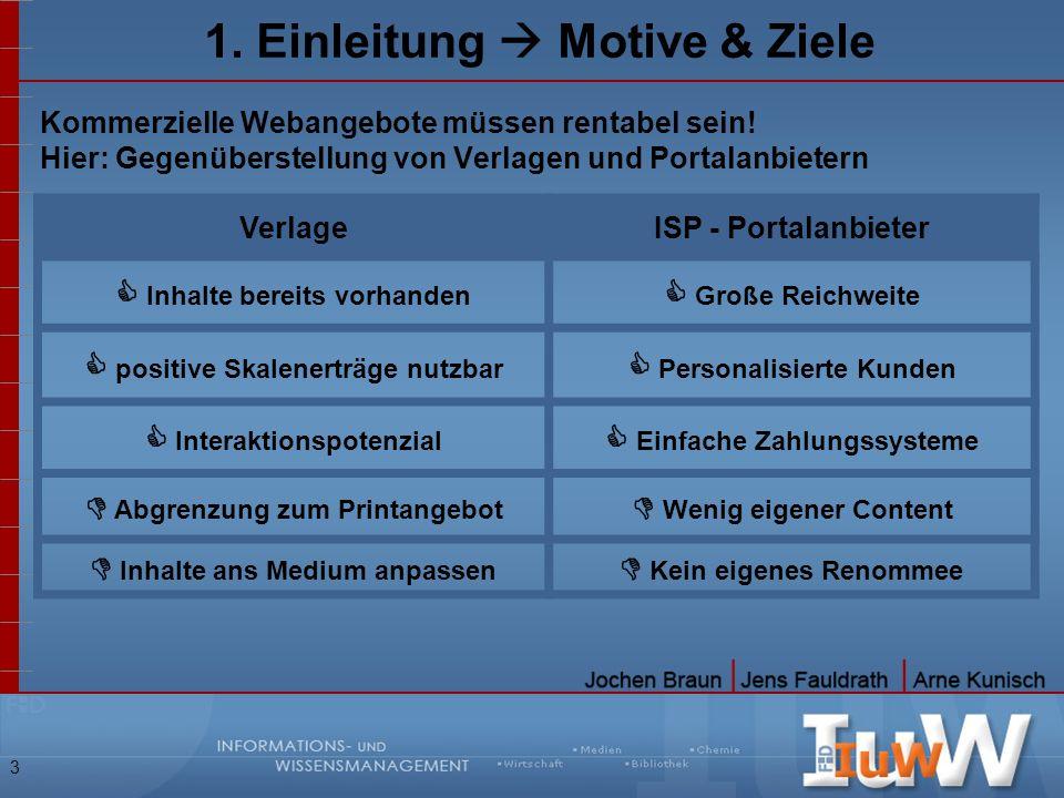1. Einleitung  Motive & Ziele