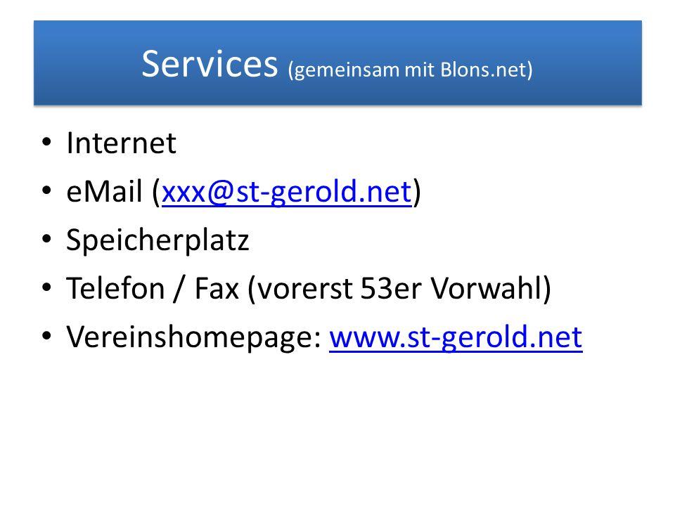 Services (gemeinsam mit Blons.net)