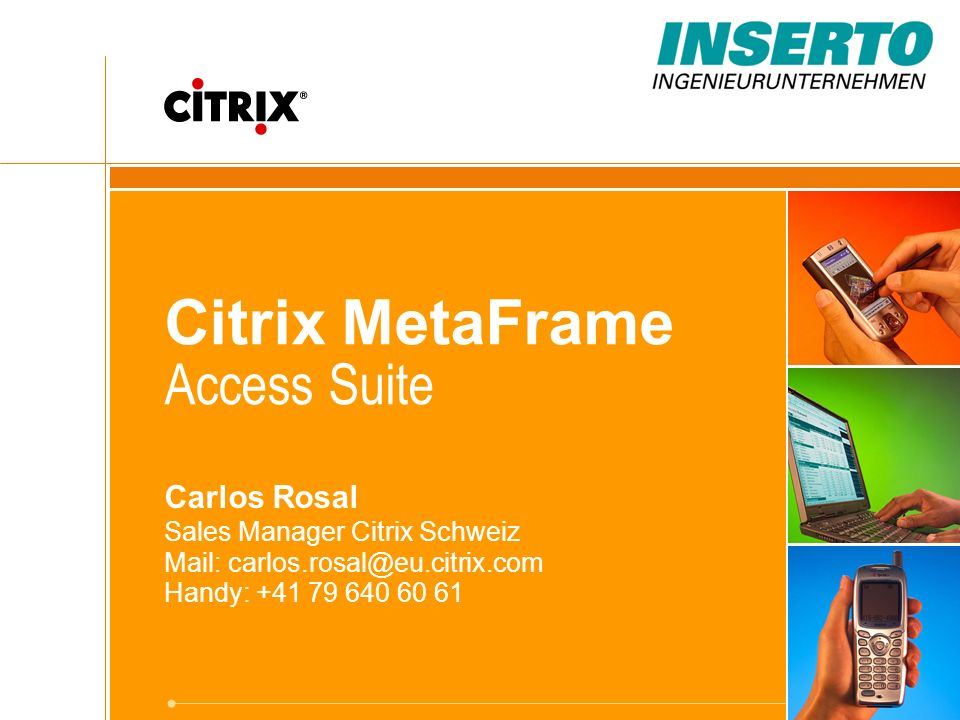 Citrix MetaFrame Access Suite