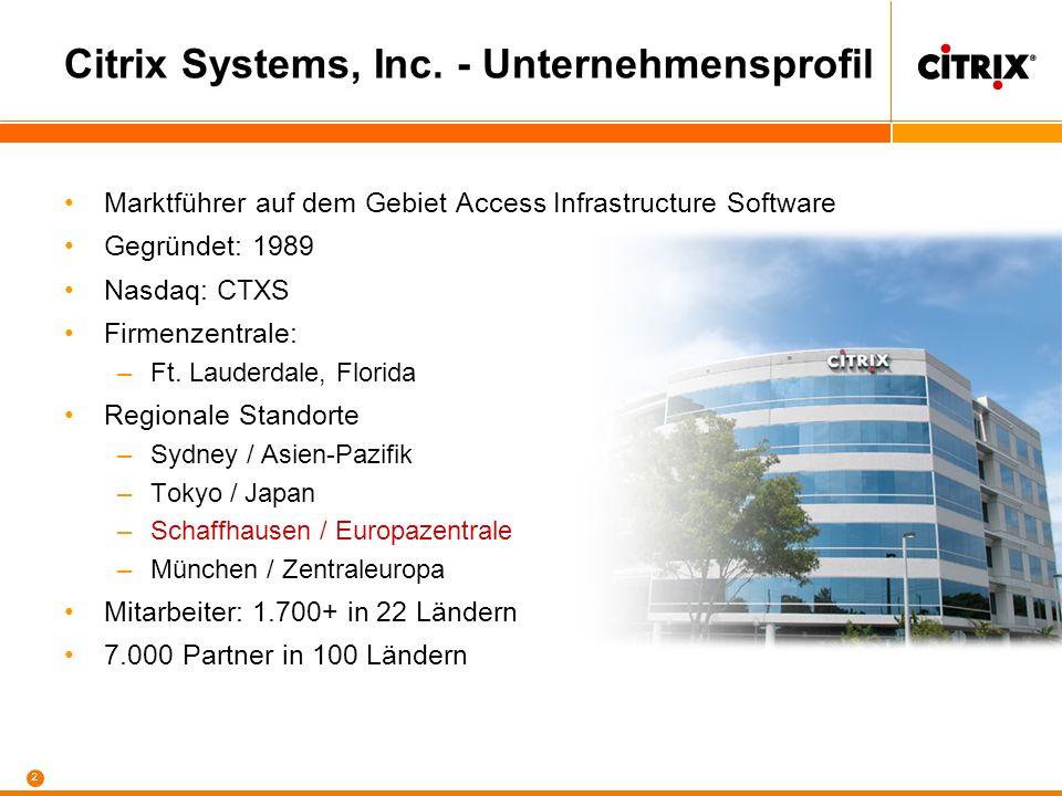 Citrix Systems, Inc. - Unternehmensprofil