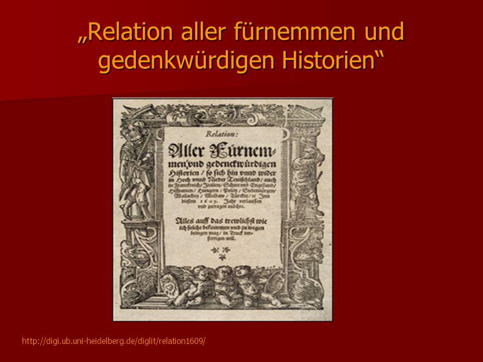 """""""Relation aller fürnemmen und gedenkwürdigen Historien"""