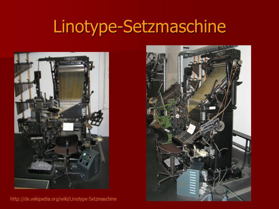 Linotype-Setzmaschine