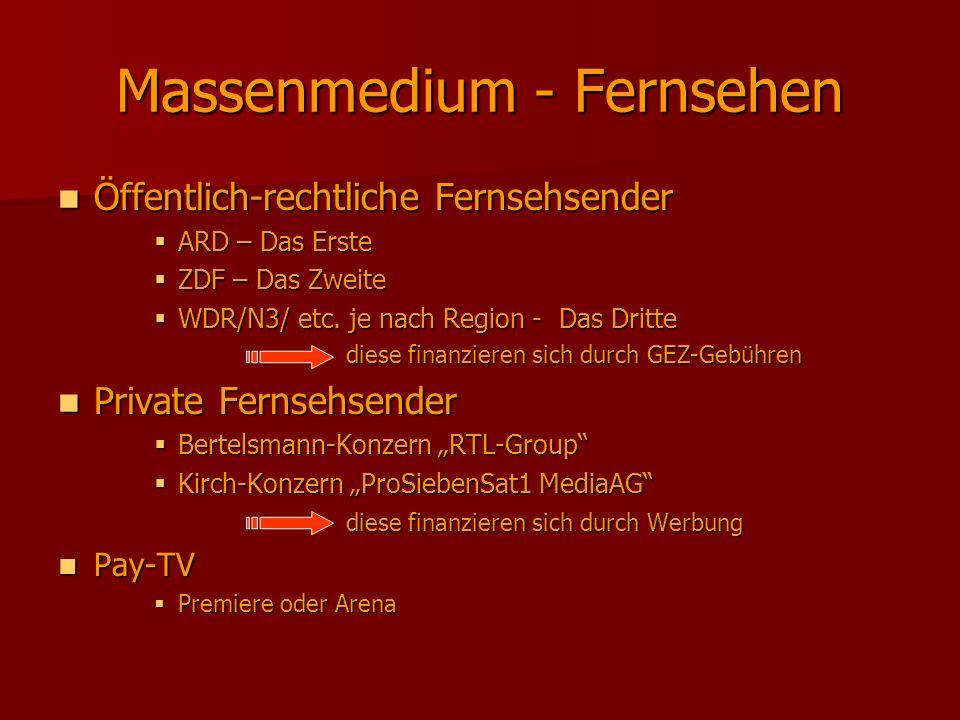 Massenmedium - Fernsehen