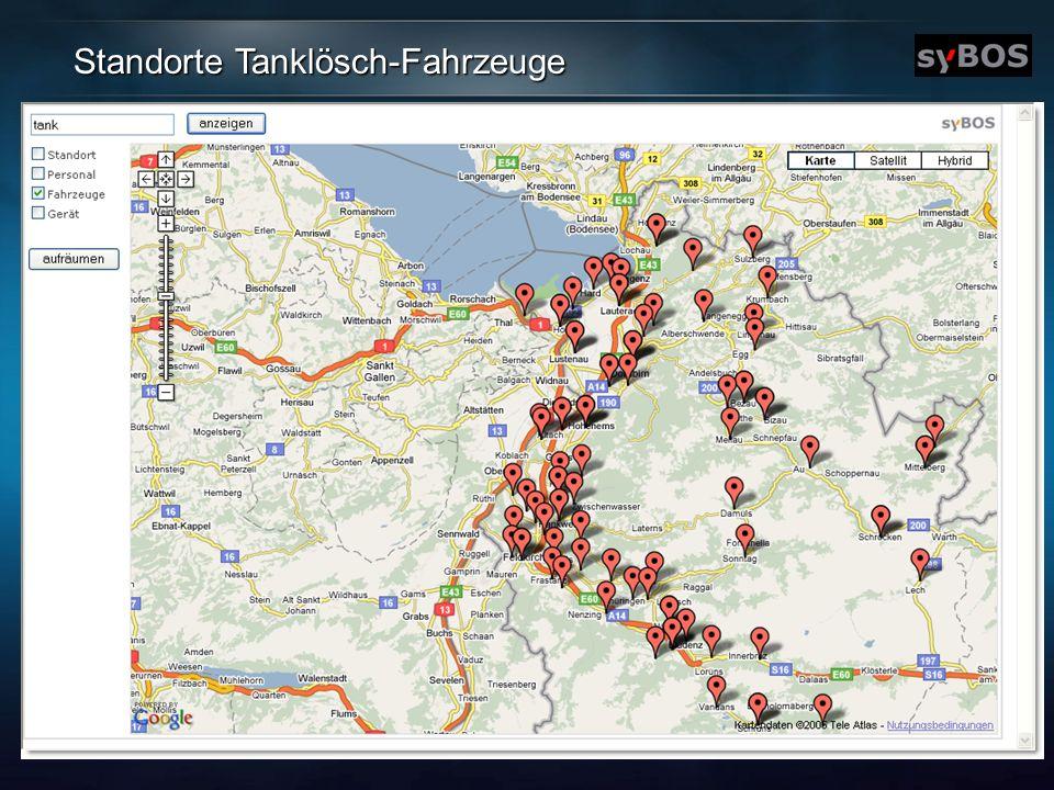 Standorte Tanklösch-Fahrzeuge
