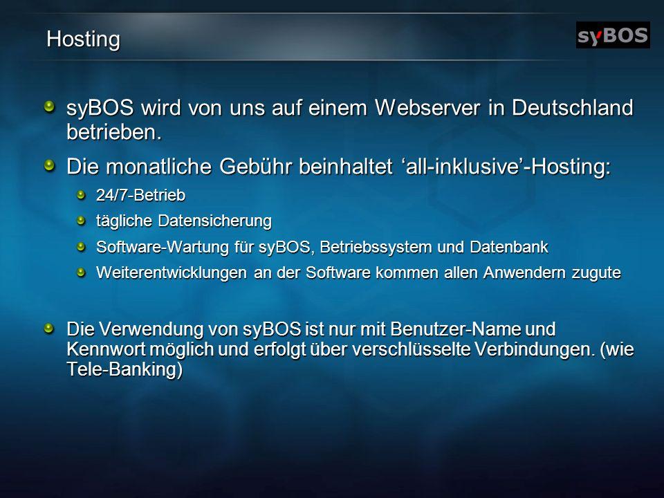 syBOS wird von uns auf einem Webserver in Deutschland betrieben.