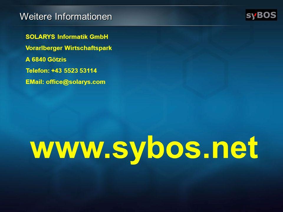 www.sybos.net Weitere Informationen SOLARYS Informatik GmbH