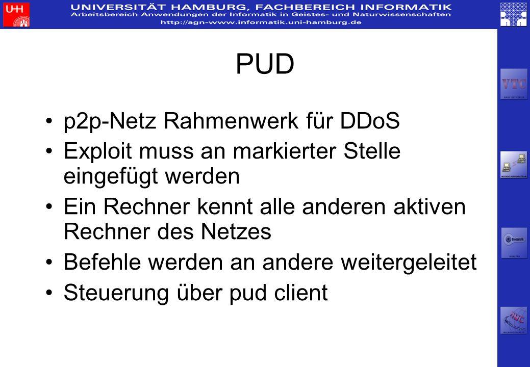 PUD p2p-Netz Rahmenwerk für DDoS