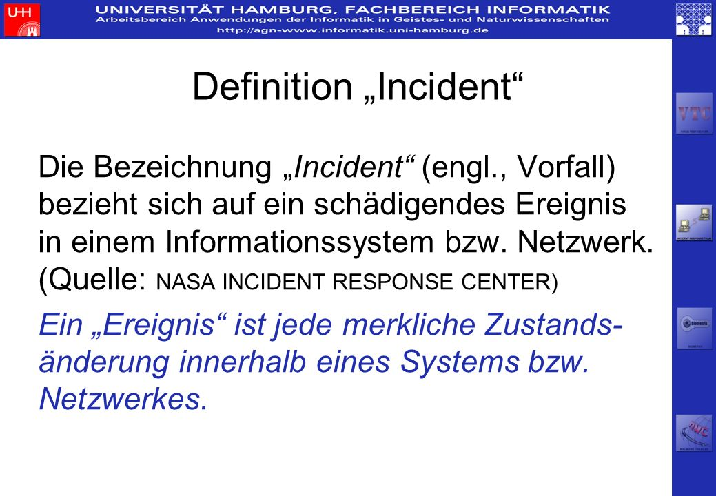 "Definition ""Incident"