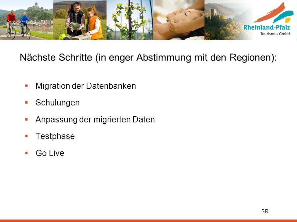 Nächste Schritte (in enger Abstimmung mit den Regionen):