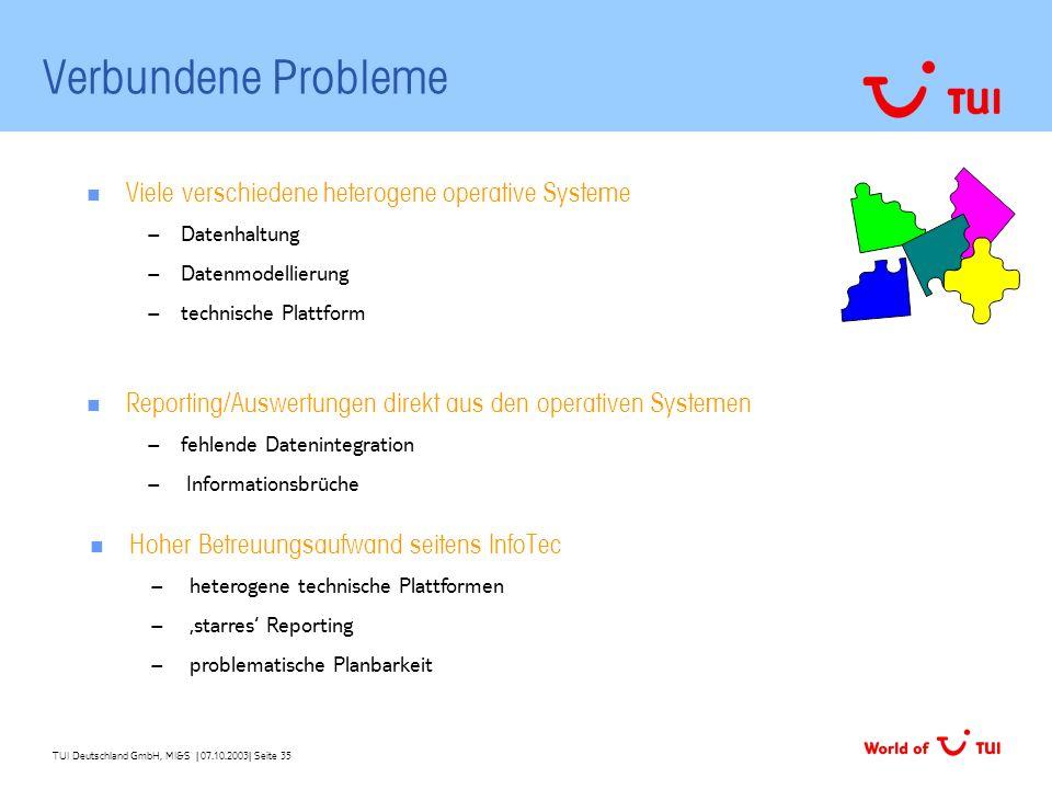 Verbundene Probleme Viele verschiedene heterogene operative Systeme