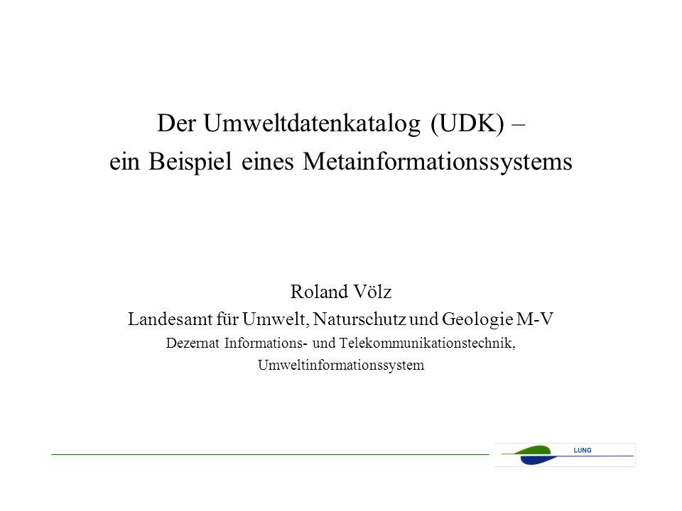 Der Umweltdatenkatalog (UDK) –