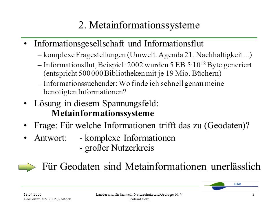 2. Metainformationssysteme