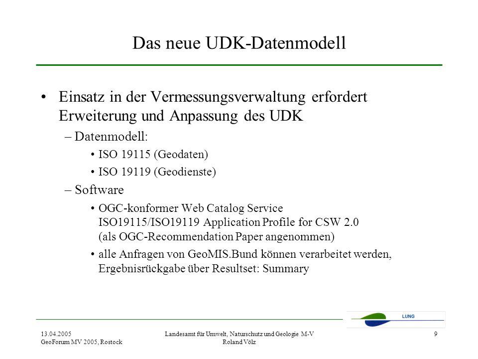 Das neue UDK-Datenmodell