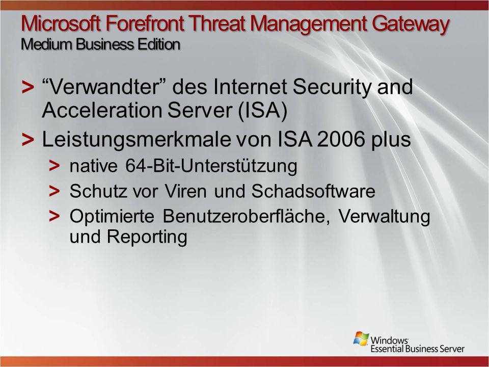 Microsoft Forefront Threat Management Gateway Medium Business Edition