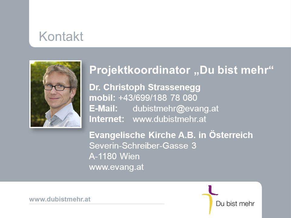 "Kontakt Projektkoordinator ""Du bist mehr"