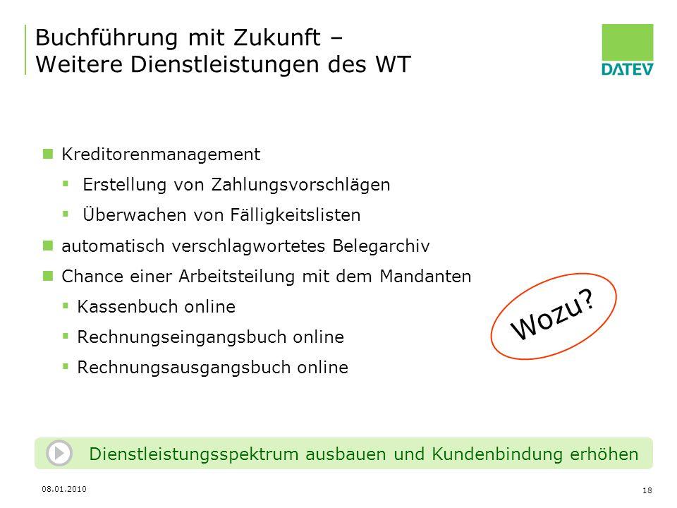 Buchführung mit Zukunft – Weitere Dienstleistungen des WT