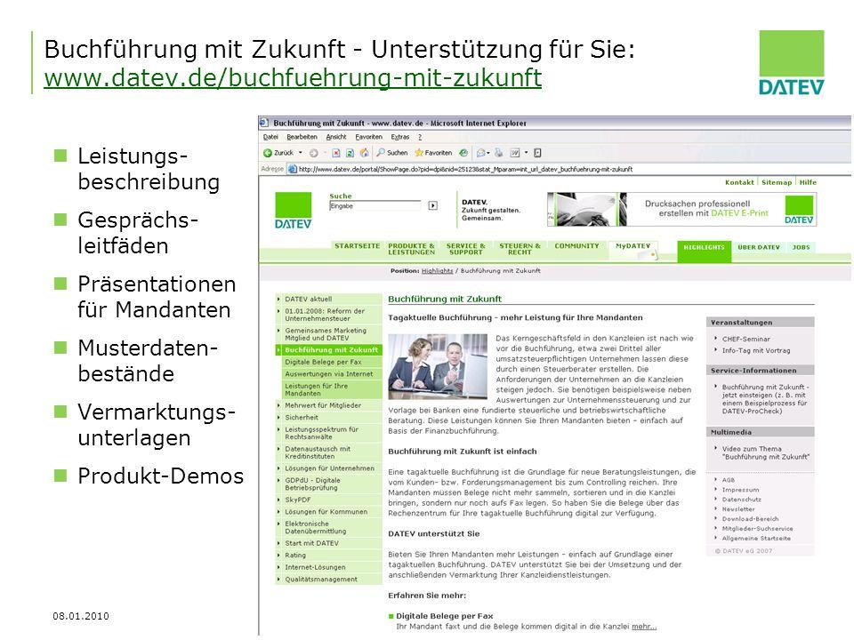 Buchführung mit Zukunft - Unterstützung für Sie: www. datev