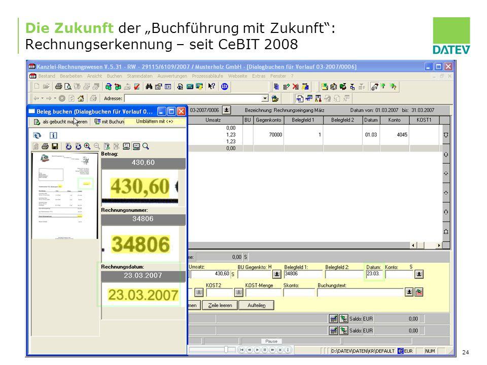 """Die Zukunft der """"Buchführung mit Zukunft : Rechnungserkennung – seit CeBIT 2008"""