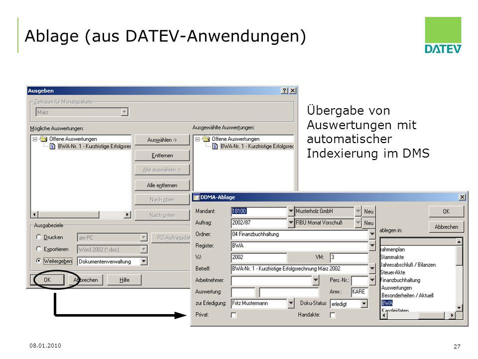 Ablage (aus DATEV-Anwendungen)
