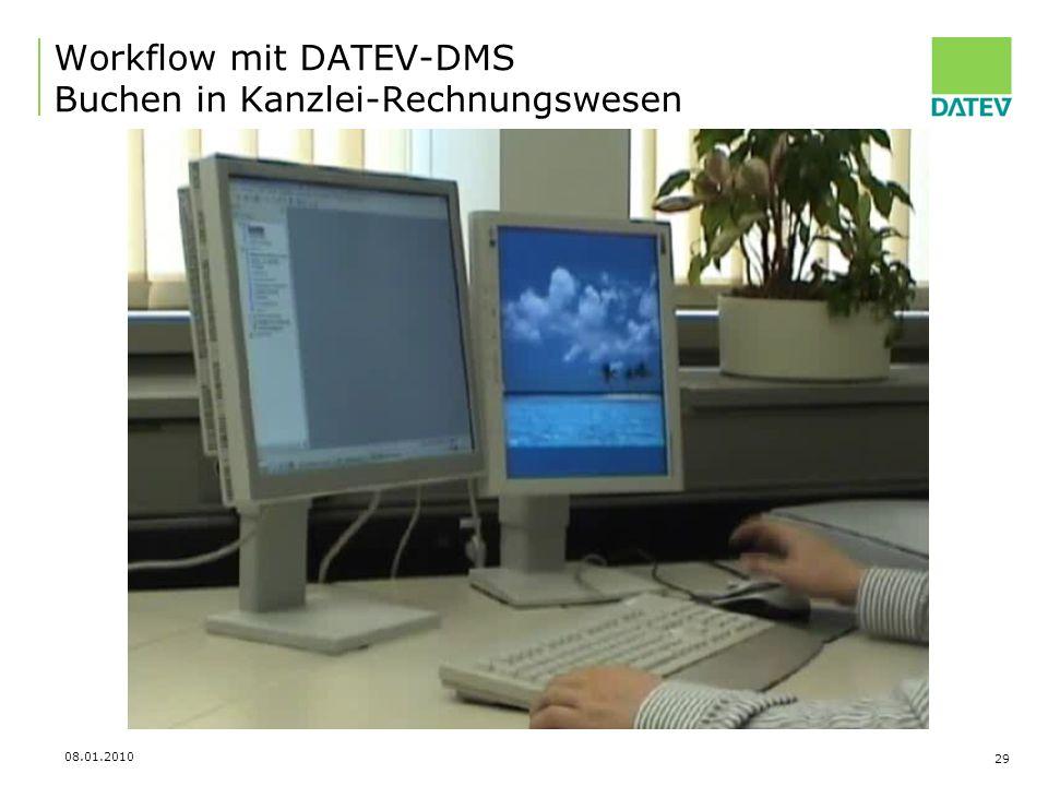 Workflow mit DATEV-DMS Buchen in Kanzlei-Rechnungswesen