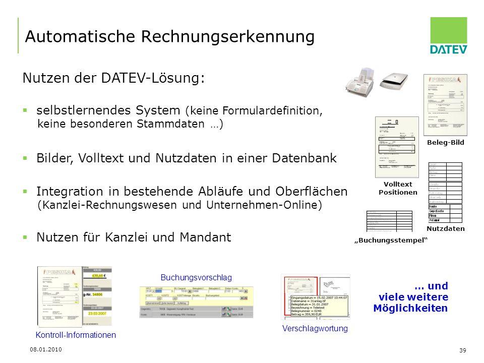 Automatische Rechnungserkennung