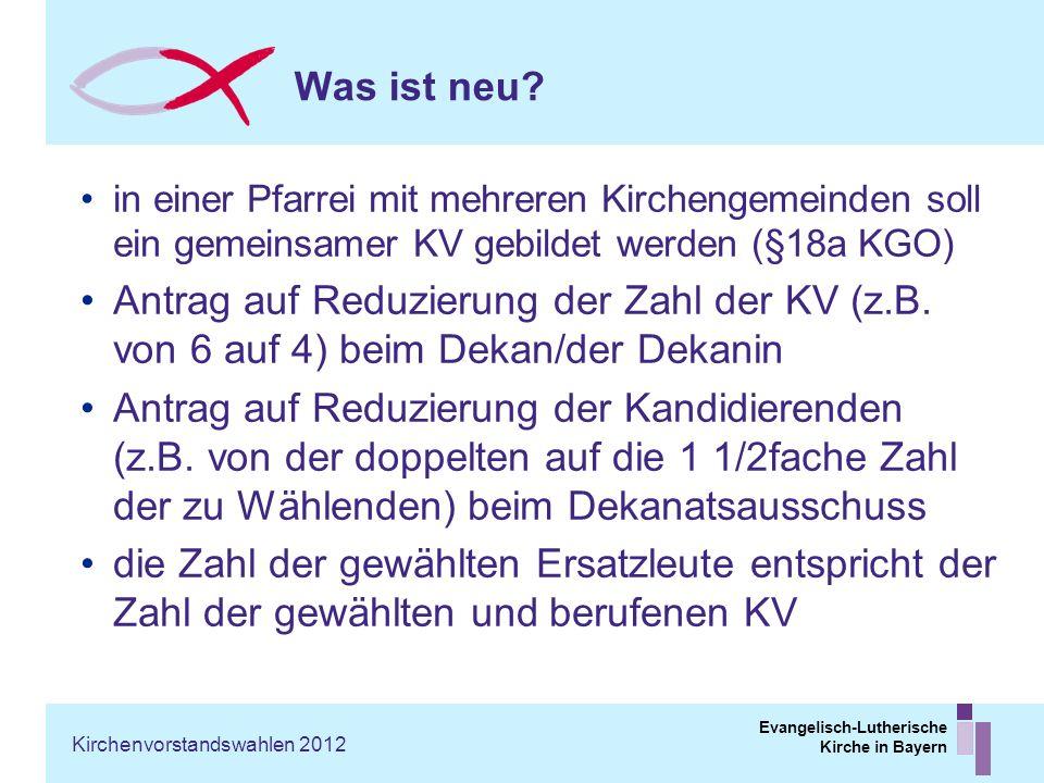 Was ist neu in einer Pfarrei mit mehreren Kirchengemeinden soll ein gemeinsamer KV gebildet werden (§18a KGO)