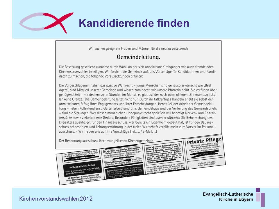 Kandidierende finden Kirchenvorstandswahlen 2012
