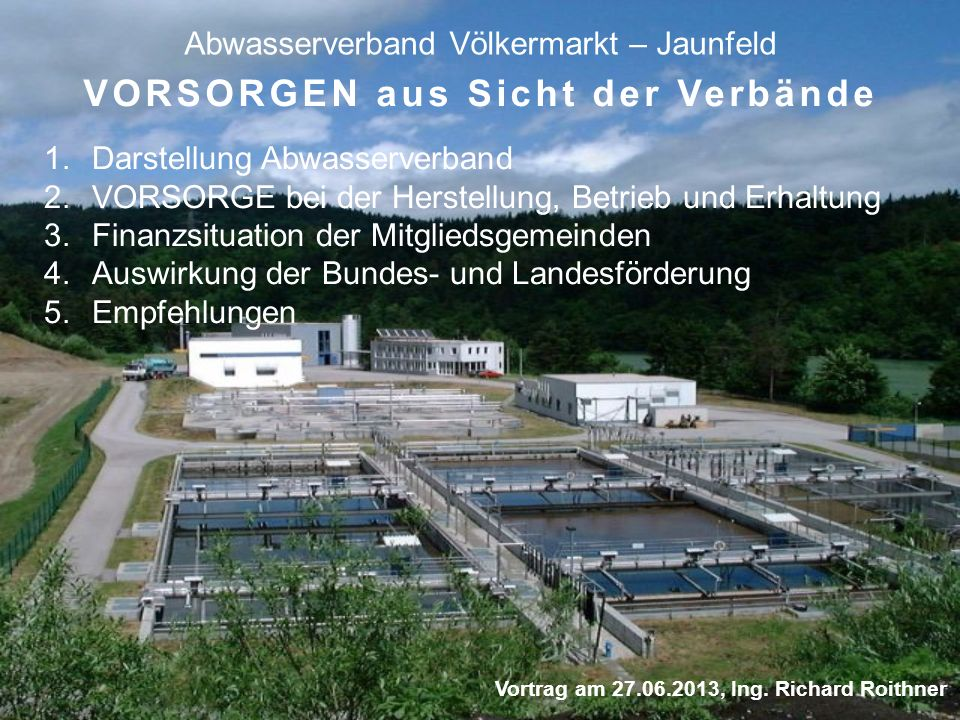Abwasserverband Völkermarkt – Jaunfeld