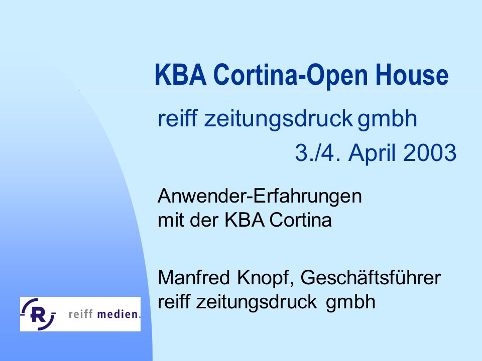 KBA Cortina-Open House