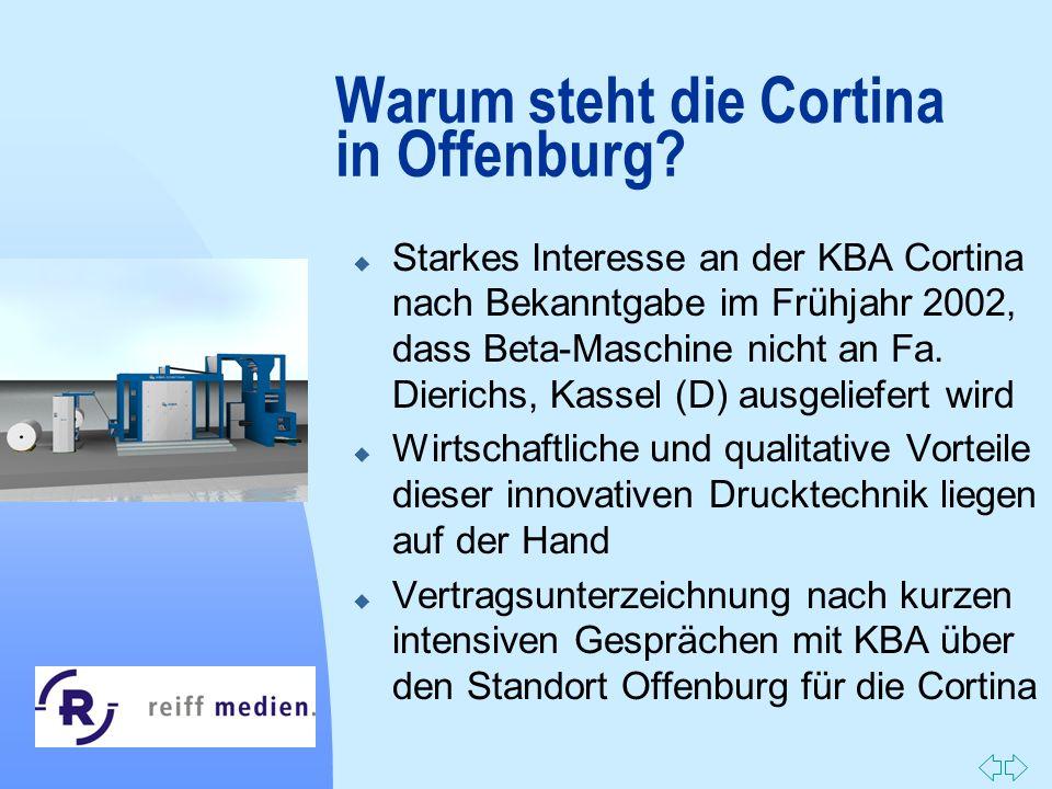 Warum steht die Cortina in Offenburg