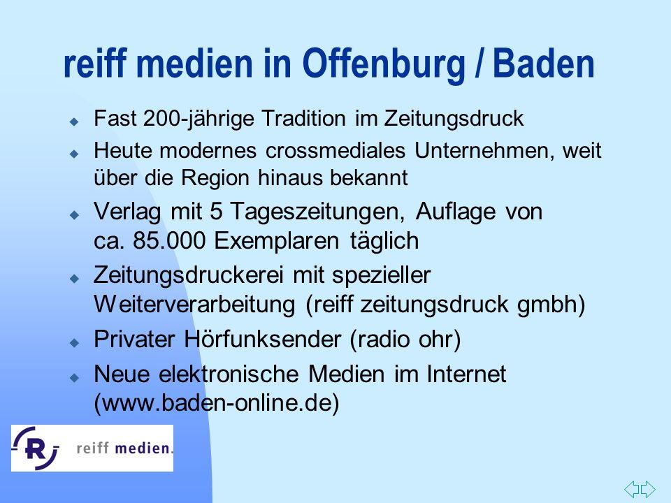 reiff medien in Offenburg / Baden